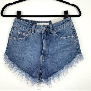 Topshop; Fray Hem Kiri Shorts